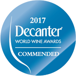 Commended wine - Decanter 2017